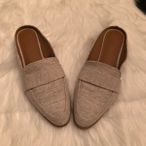 New Universal Thread Natural Canvas Loafer Mules